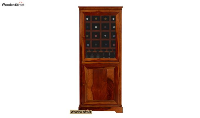 Charles Bar Cabinet (Honey Finish)-3