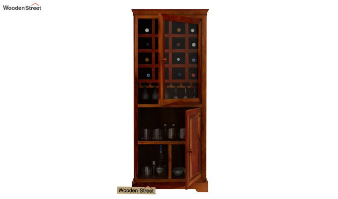 Charles Bar Cabinet (Honey Finish)-4