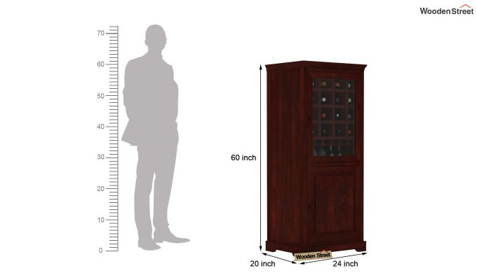 Charles Bar Cabinet (Mahogany Finish)-4