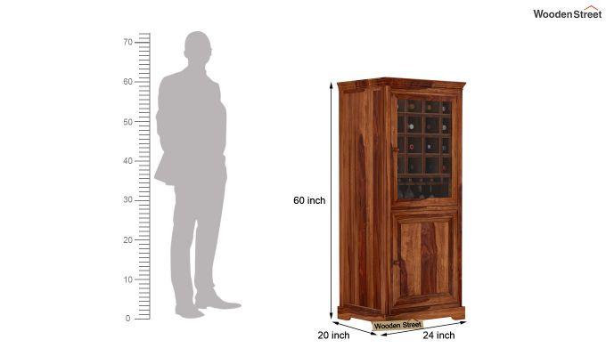 Charles Bar Cabinet (Teak Finish)-4