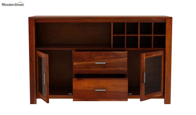 Cory Bar Cabinet (Honey Finish)-6