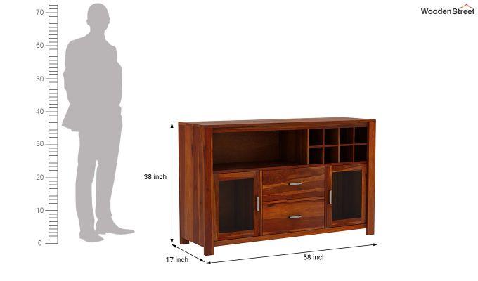 Cory Bar Cabinet (Honey Finish)-7