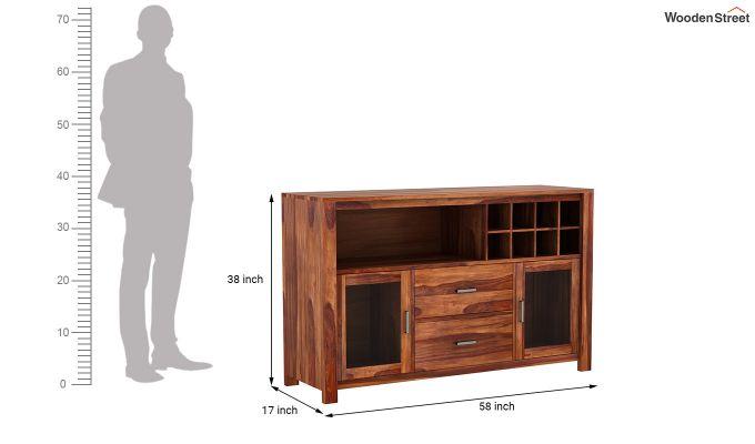 Cory Bar Cabinet (Teak Finish)-7