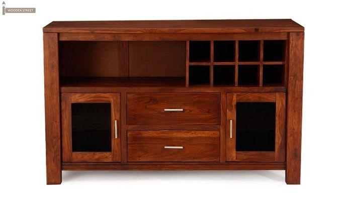 Cory Bar Cabinet (Honey Finish)-1