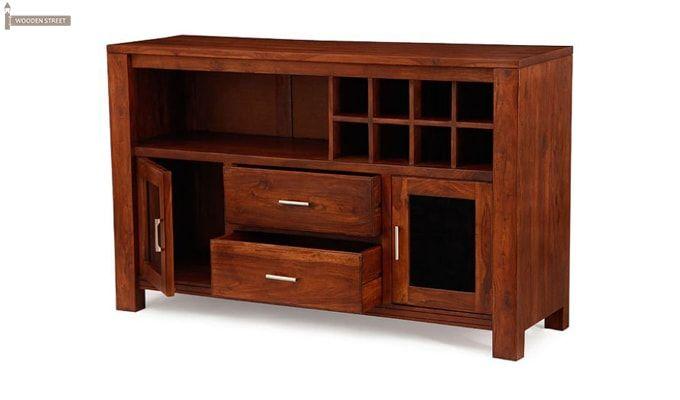 Cory Bar Cabinet (Honey Finish)-2