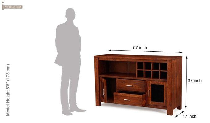 Cory Bar Cabinet (Honey Finish)-5