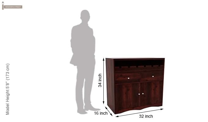 Cowan Bar Cabinet (Mahogany Finish)-6