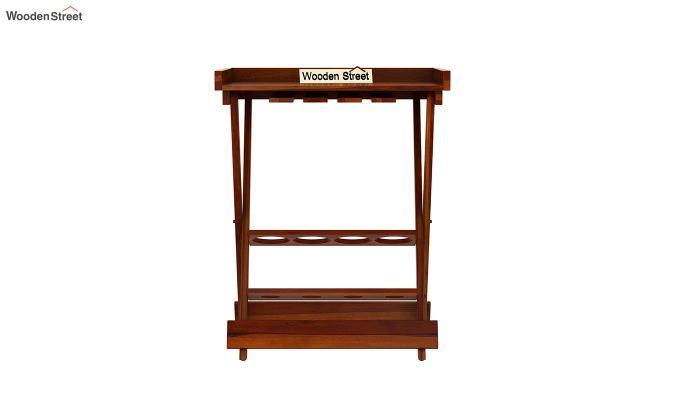 Delroy Bar Cabinet (Honey Finish)-6
