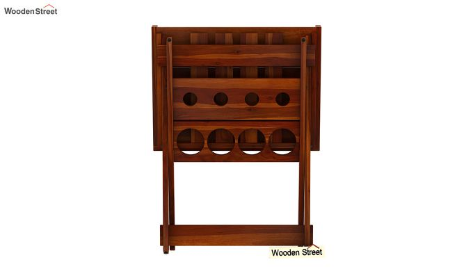 Delroy Bar Cabinet (Honey Finish)-7