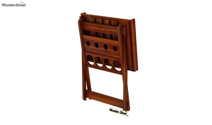 Delroy Bar Cabinet (Honey Finish)-8