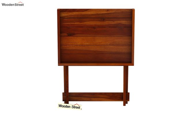 Delroy Bar Cabinet (Honey Finish)-9