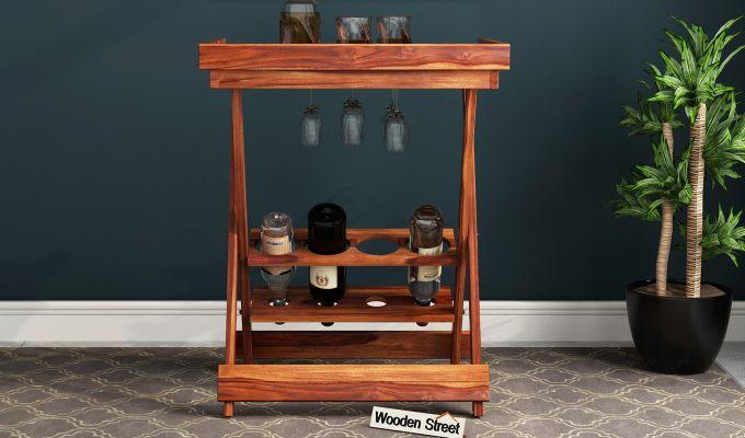Delroy Bar Cabinet (Teak Finish)-2