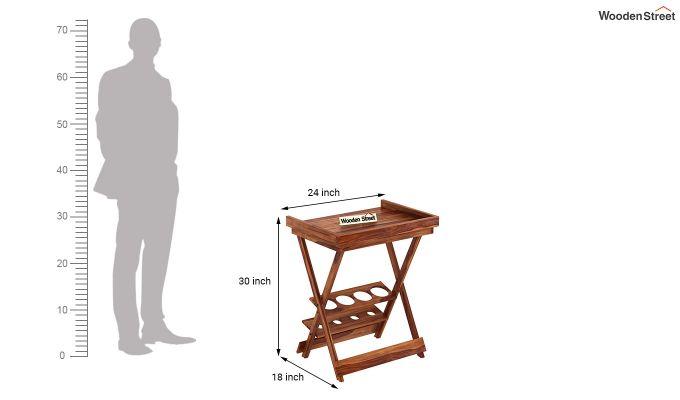 Delroy Bar Cabinet (Teak Finish)-11