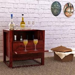 Dumont Bar Cabinet (Mahogany Finish)