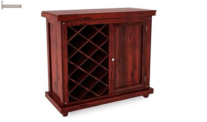 Edmis Bar Cabinet (Mahogany Finish)-2
