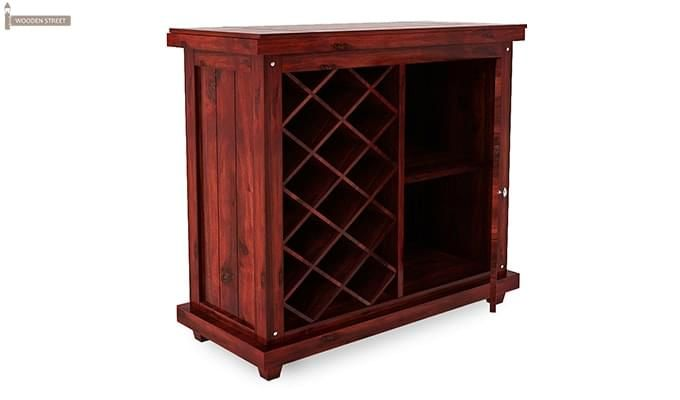 Edmis Bar Cabinet (Mahogany Finish)-4
