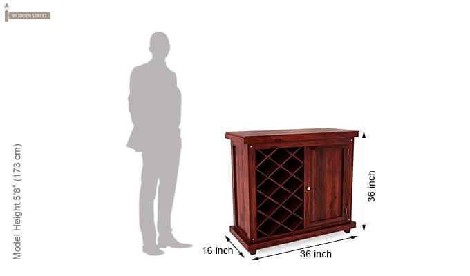 Edmis Bar Cabinet (Mahogany Finish)-6