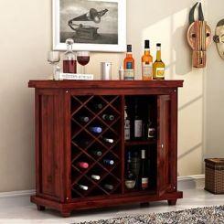 Edmis Bar Cabinet (Mahogany Finish)