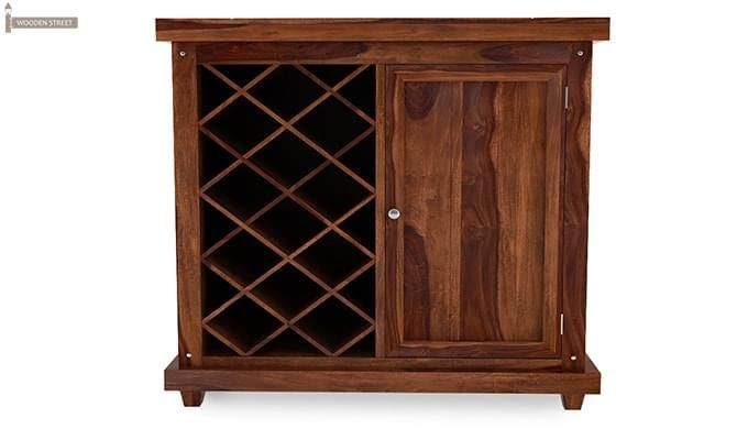 Edmis Bar Cabinet (Teak Finish)-3
