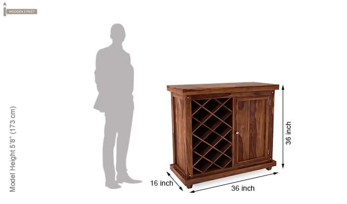 Edmis Bar Cabinet (Teak Finish)-6