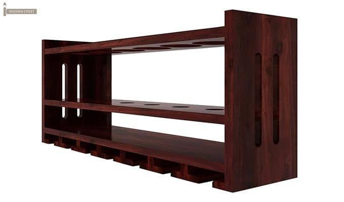 Elanor Wine Rack (Mahogany Finish)-4