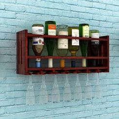 Elanor Wine Rack (Mahogany Finish)