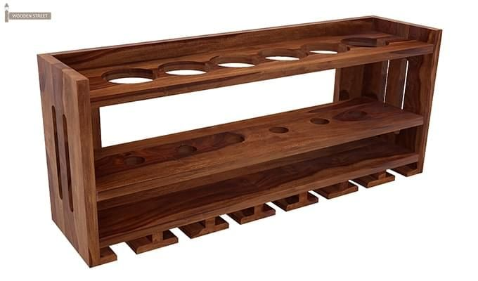 Elanor Wine Rack (Teak Finish)-2