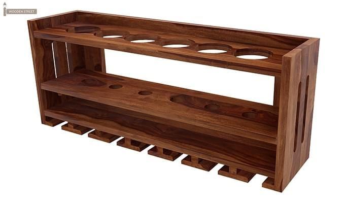 Elanor Wine Rack (Teak Finish)-4