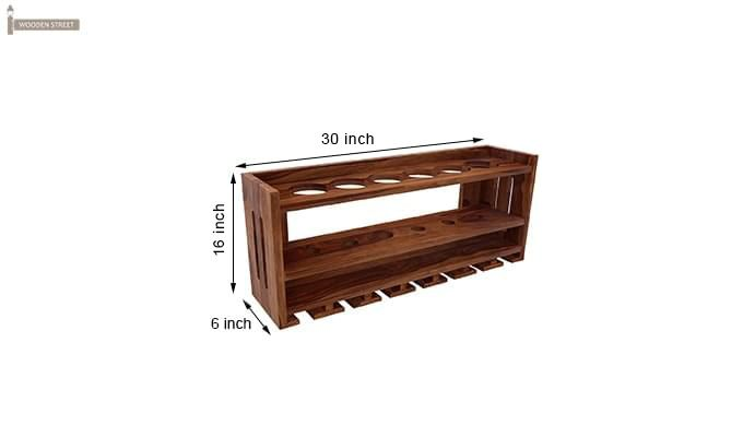 Elanor Wine Rack (Teak Finish)-5