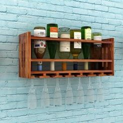 Elanor Wine Rack (Teak Finish)