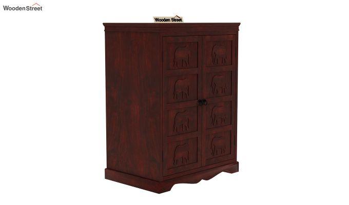 Emboss Bar Cabinet (Mahogany Finish)-3