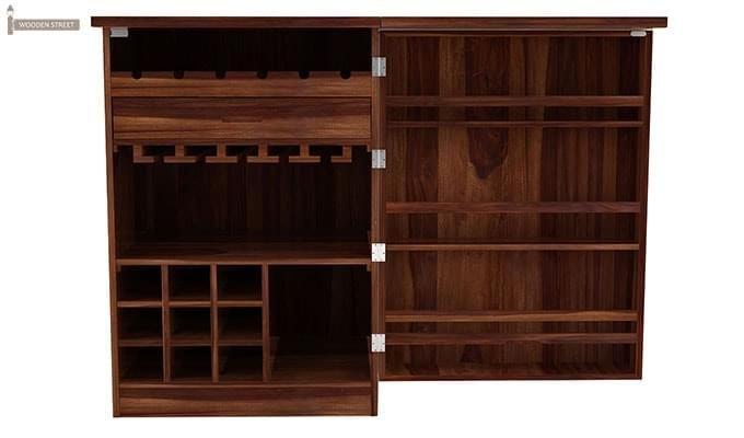 Ester Bar Cabinet (Teak Finish)-4