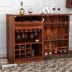 Ester Bar Cabinet (Teak Finish)
