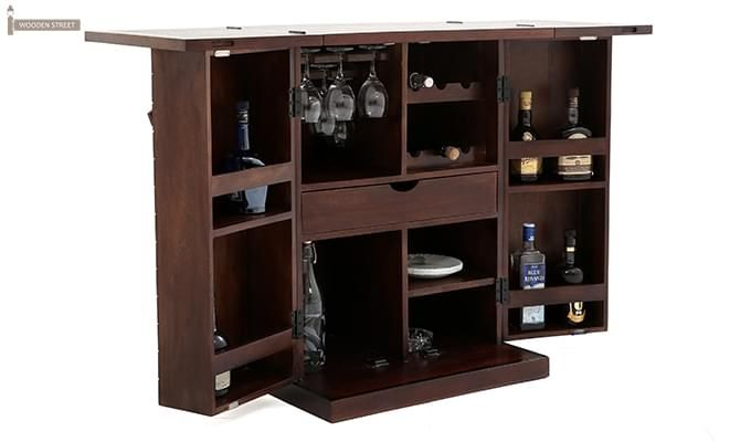 Felisa Bar Cabinet (Walnut Finish)-1
