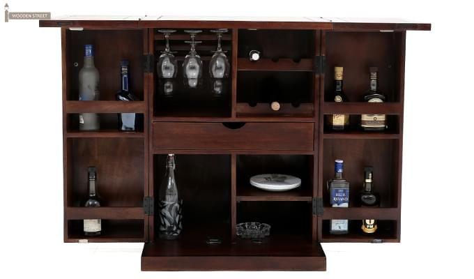 Felisa Bar Cabinet (Walnut Finish)-2