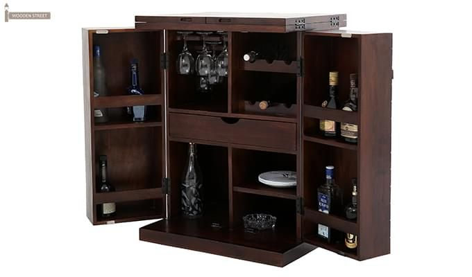 Felisa Bar Cabinet (Walnut Finish)-3