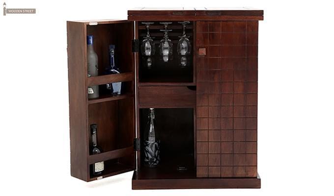 Felisa Bar Cabinet (Walnut Finish)-4