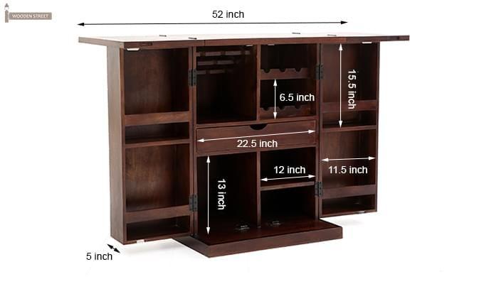 Felisa Bar Cabinet (Walnut Finish)-13