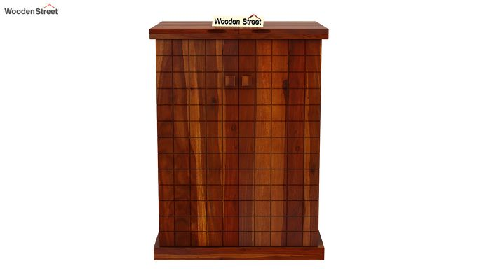 Felisa Bar Cabinet (Honey Finish)-4