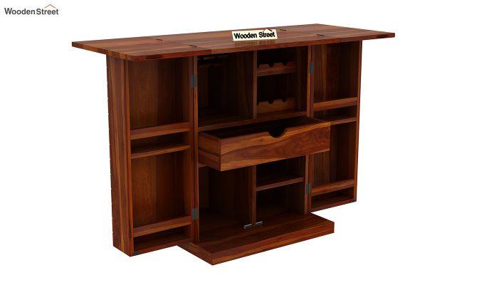 Felisa Bar Cabinet (Honey Finish)-5