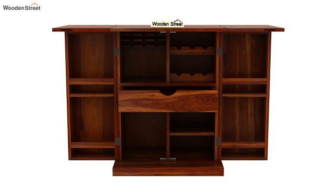 Felisa Bar Cabinet (Honey Finish)-6