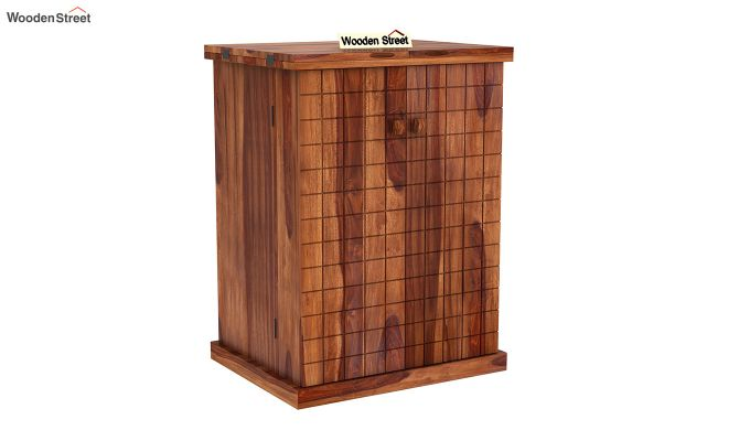 Felisa Bar Cabinet (Teak Finish)-3
