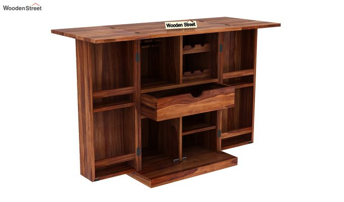 Felisa Bar Cabinet (Teak Finish)-5
