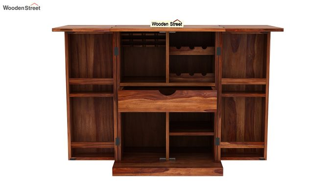 Felisa Bar Cabinet (Teak Finish)-6