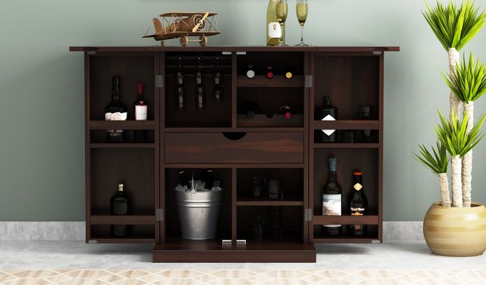 Felisa Bar Cabinet (Walnut Finish)-2