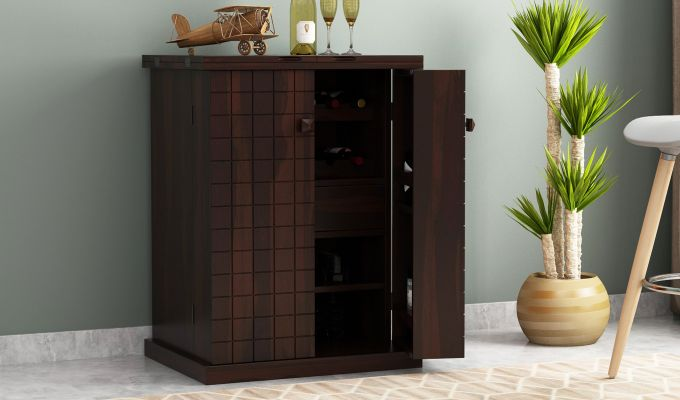 Felisa Bar Cabinet (Walnut Finish)-1