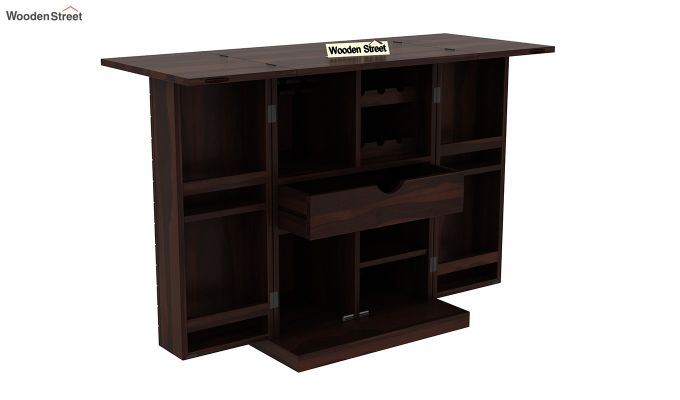 Felisa Bar Cabinet (Walnut Finish)-5