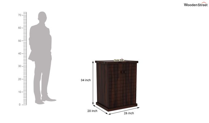 Felisa Bar Cabinet (Walnut Finish)-7