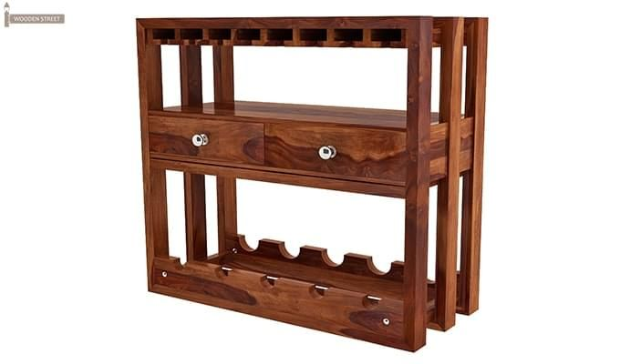 Ferris Wine Rack (Teak Finish)-4