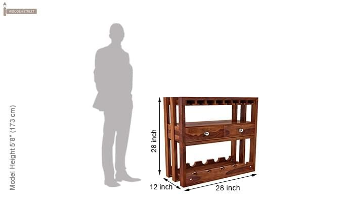 Ferris Wine Rack (Teak Finish)-7